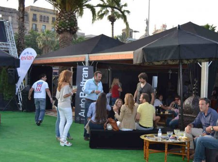 Eventop Carpas present with tents in the area of the six2six Barcelona Motordays