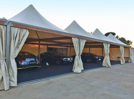 Tents Eventop VIP for exhibition of high-range vehicles