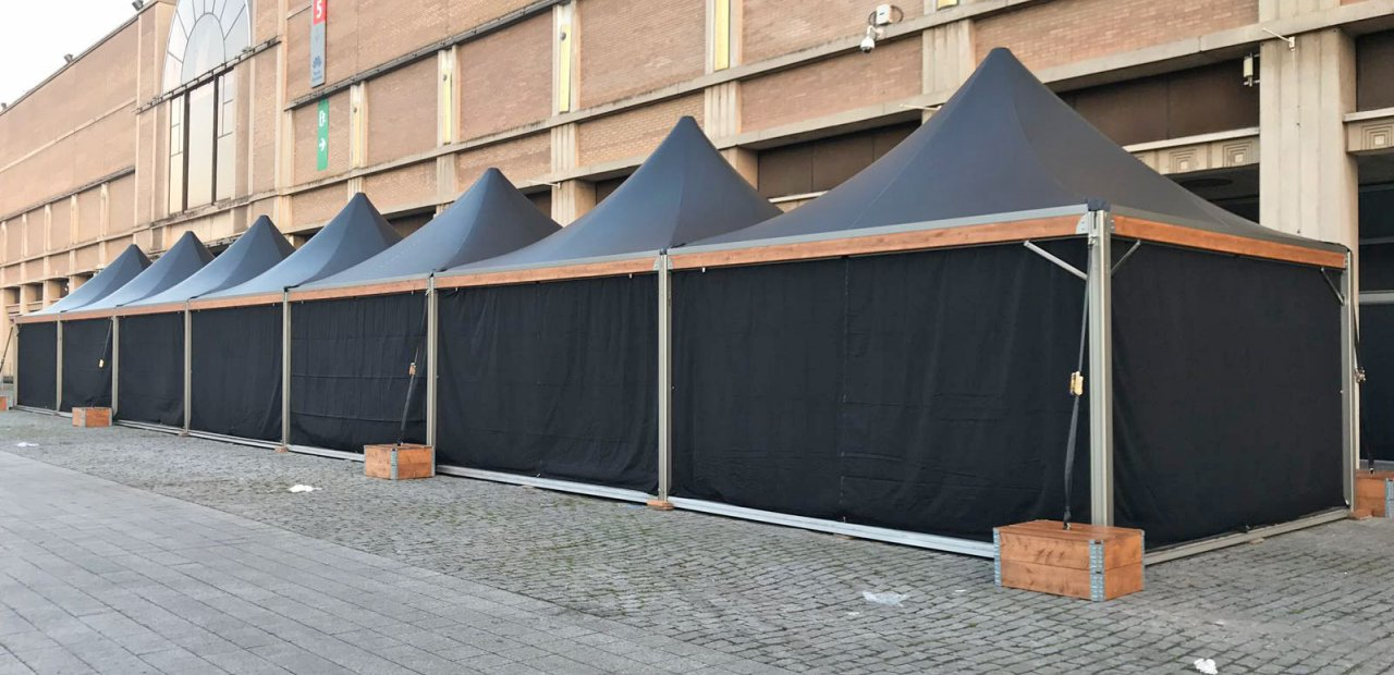 Carpas Eventop VIP para evento corporativo